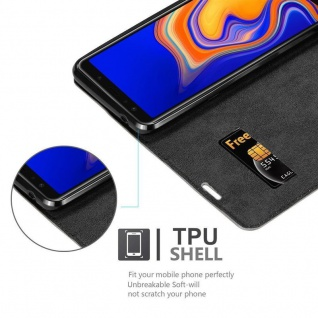 Cadorabo Hülle für Samsung Galaxy A6S in KAFFEE BRAUN - Handyhülle mit Magnetverschluss, Standfunktion und Kartenfach - Case Cover Schutzhülle Etui Tasche Book Klapp Style - Vorschau 2