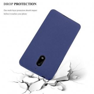 Cadorabo Hülle für Nokia 6 2017 in FROST DUNKEL BLAU - Handyhülle aus flexiblem TPU Silikon - Silikonhülle Schutzhülle Ultra Slim Soft Back Cover Case Bumper - Vorschau 3