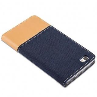 Cadorabo Hülle für Huawei P8 LITE 2015 in DUNKEL BLAU BRAUN - Handyhülle mit Magnetverschluss, Standfunktion und Kartenfach - Case Cover Schutzhülle Etui Tasche Book Klapp Style - Vorschau 5