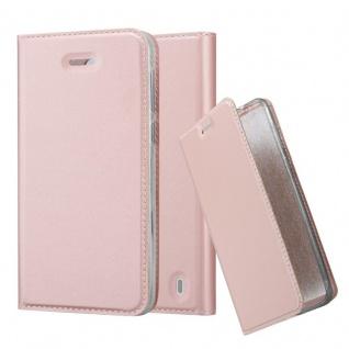 Cadorabo Hülle für Nokia 2 2017 in CLASSY ROSÉ GOLD - Handyhülle mit Magnetverschluss, Standfunktion und Kartenfach - Case Cover Schutzhülle Etui Tasche Book Klapp Style