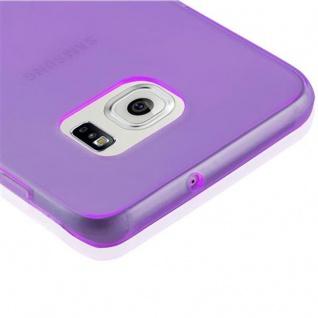 Cadorabo Hülle für Samsung Galaxy S6 EDGE PLUS in TRANSPARENT LILA - Handyhülle aus flexiblem TPU Silikon - Silikonhülle Schutzhülle Ultra Slim Soft Back Cover Case Bumper - Vorschau 5