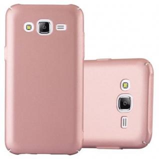Cadorabo Hülle für Samsung Galaxy J5 2015 in METALL ROSE GOLD - Hardcase Handyhülle aus Plastik gegen Kratzer und Stöße - Schutzhülle Bumper Ultra Slim Back Case Hard Cover