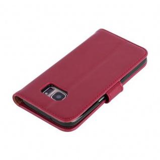 Cadorabo Hülle für Samsung Galaxy S7 in WEIN ROT ? Handyhülle mit Magnetverschluss, Standfunktion und Kartenfach ? Case Cover Schutzhülle Etui Tasche Book Klapp Style - Vorschau 4