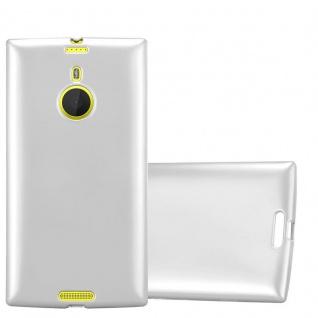 Cadorabo Hülle für Nokia Lumia 1520 in METALLIC SILBER - Handyhülle aus flexiblem TPU Silikon - Silikonhülle Schutzhülle Ultra Slim Soft Back Cover Case Bumper