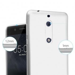 Cadorabo Hülle für Nokia 5 2017 in METALLIC SILBER - Handyhülle aus flexiblem TPU Silikon - Silikonhülle Schutzhülle Ultra Slim Soft Back Cover Case Bumper - Vorschau 5