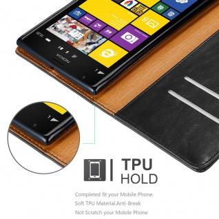 Cadorabo Hülle für Nokia Lumia 1520 in GRAPHIT SCHWARZ ? Handyhülle mit Magnetverschluss, Standfunktion und Kartenfach ? Case Cover Schutzhülle Etui Tasche Book Klapp Style - Vorschau 3