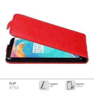 Cadorabo Hülle für OnePlus 5T in APFEL ROT Handyhülle im Flip Design mit Magnetverschluss Case Cover Schutzhülle Etui Tasche Book Klapp Style - Vorschau 4