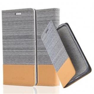 Cadorabo Hülle für Sony Xperia Z3 in HELL GRAU BRAUN - Handyhülle mit Magnetverschluss, Standfunktion und Kartenfach - Case Cover Schutzhülle Etui Tasche Book Klapp Style