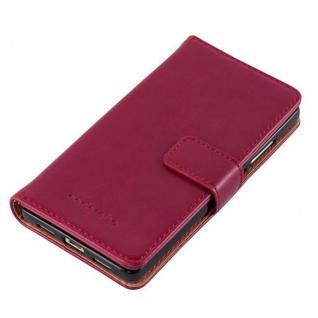 Cadorabo Hülle für Huawei P8 LITE 2015 in WEIN ROT - Handyhülle mit Magnetverschluss, Standfunktion und Kartenfach - Case Cover Schutzhülle Etui Tasche Book Klapp Style - Vorschau 4