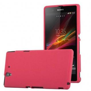 Cadorabo Hülle für Sony Xperia Z in FROST ROT - Handyhülle aus flexiblem TPU Silikon - Silikonhülle Schutzhülle Ultra Slim Soft Back Cover Case Bumper