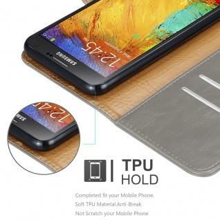 Cadorabo Hülle für Samsung Galaxy NOTE 3 NEO in CAPPUCCINO BRAUN ? Handyhülle mit Magnetverschluss, Standfunktion und Kartenfach ? Case Cover Schutzhülle Etui Tasche Book Klapp Style - Vorschau 4