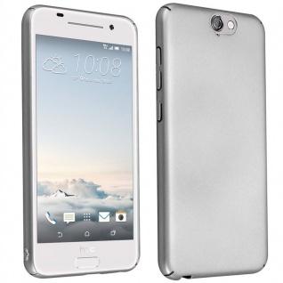 Cadorabo Hülle für HTC One A9 in METALL SILBER Hardcase Handyhülle aus Plastik gegen Kratzer und Stöße Schutzhülle Bumper Ultra Slim Back Case Hard Cover