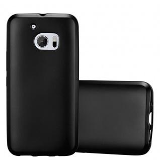 Cadorabo Hülle für HTC 10 (One M10) in METALLIC SCHWARZ - Handyhülle aus flexiblem TPU Silikon - Silikonhülle Schutzhülle Ultra Slim Soft Back Cover Case Bumper