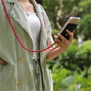 Cadorabo Handy Kette für Apple iPhone 8 PLUS / 7 PLUS / 7S PLUS in PINK SCHWARZ WEISS GEPUNKTET - Silikon Necklace Umhänge Hülle mit Gold Ringen, Kordel Band Schnur und abnehmbarem Etui Schutzhülle - Vorschau 2
