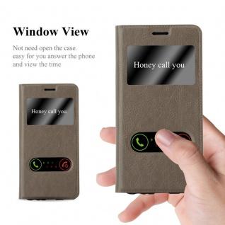 Cadorabo Hülle für Huawei P10 PLUS in STEIN BRAUN - Handyhülle mit Magnetverschluss, Standfunktion und 2 Sichtfenstern - Case Cover Schutzhülle Etui Tasche Book Klapp Style - Vorschau 2