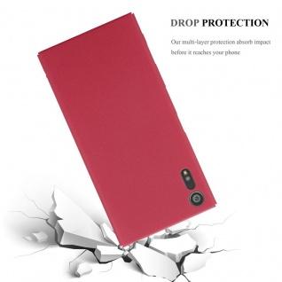 Cadorabo Hülle für Sony Xperia XZ / XZs in FROSTY ROT - Hardcase Handyhülle aus Plastik gegen Kratzer und Stöße - Schutzhülle Bumper Ultra Slim Back Case Hard Cover - Vorschau 4