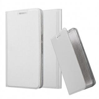 Cadorabo Hülle für Huawei NEXUS 6P in CLASSY SILBER - Handyhülle mit Magnetverschluss, Standfunktion und Kartenfach - Case Cover Schutzhülle Etui Tasche Book Klapp Style