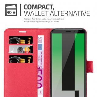 Cadorabo Hülle für Huawei MATE 10 LITE in KARMIN ROT - Handyhülle mit Magnetverschluss, Standfunktion und Kartenfach - Case Cover Schutzhülle Etui Tasche Book Klapp Style - Vorschau 4