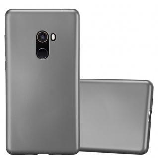 Cadorabo Hülle für Xiaomi Mi Mix 2 in METALLIC GRAU - Handyhülle aus flexiblem TPU Silikon - Silikonhülle Schutzhülle Ultra Slim Soft Back Cover Case Bumper
