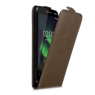 Cadorabo Hülle für Nokia 2.1 2018 in KAFFEE BRAUN - Handyhülle im Flip Design mit unsichtbarem Magnetverschluss - Case Cover Schutzhülle Etui Tasche Book Klapp Style
