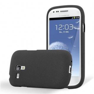 Cadorabo Hülle für Samsung Galaxy S3 MINI in FROST SCHWARZ - Handyhülle aus flexiblem TPU Silikon - Silikonhülle Schutzhülle Ultra Slim Soft Back Cover Case Bumper