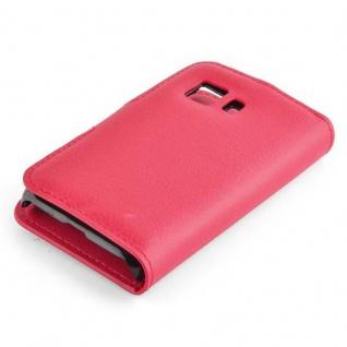 Cadorabo Hülle für Samsung Galaxy YOUNG 2 in KARMIN ROT - Handyhülle mit Magnetverschluss, Standfunktion und Kartenfach - Case Cover Schutzhülle Etui Tasche Book Klapp Style - Vorschau 2