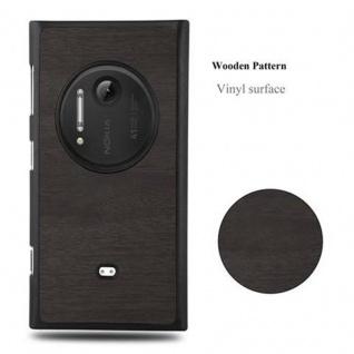 Cadorabo Hülle für Nokia Lumia 1020 in WOODY SCHWARZ - Hardcase Handyhülle aus Plastik gegen Kratzer und Stöße - Schutzhülle Bumper Ultra Slim Back Case Hard Cover - Vorschau 4