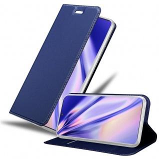 Cadorabo Hülle für Samsung Galaxy NOTE 10 PLUS in CLASSY DUNKEL BLAU Handyhülle mit Magnetverschluss, Standfunktion und Kartenfach Case Cover Schutzhülle Etui Tasche Book Klapp Style