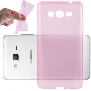 Cadorabo Hülle für Samsung Galaxy GRAND PRIME in TRANSPARENT PINK - Handyhülle aus flexiblem TPU Silikon - Silikonhülle Schutzhülle Ultra Slim Soft Back Cover Case Bumper