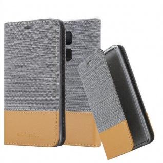 Cadorabo Hülle für BQ Aquaris V / Vs Plus in HELL GRAU BRAUN - Handyhülle mit Magnetverschluss, Standfunktion und Kartenfach - Case Cover Schutzhülle Etui Tasche Book Klapp Style