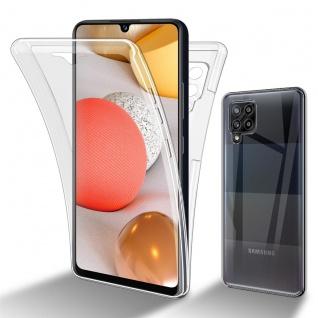 Cadorabo Hülle kompatibel mit Samsung Galaxy A42 5G in TRANSPARENT - 360° Full Body Handyhülle Front und Rückenschutz Rundumschutz Schutzhülle mit Displayschutz