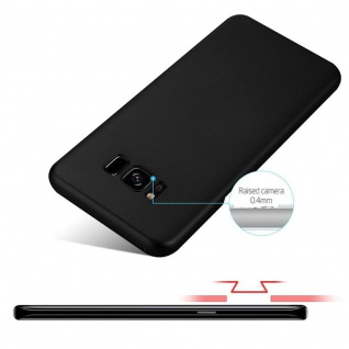 Cadorabo Hülle für Samsung Galaxy S8 in METALL SCHWARZ - Hardcase Handyhülle aus Plastik gegen Kratzer und Stöße - Schutzhülle Bumper Ultra Slim Back Case Hard Cover - Vorschau 4