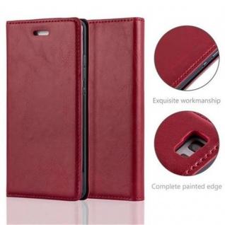 Cadorabo Hülle für Huawei P8 LITE 2015 in APFEL ROT - Handyhülle mit Magnetverschluss, Standfunktion und Kartenfach - Case Cover Schutzhülle Etui Tasche Book Klapp Style - Vorschau 2