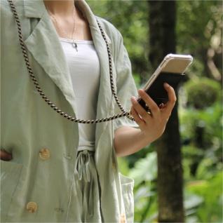 Cadorabo Handy Kette für Nokia 4.2 in DUNKELBLAU GELB Silikon Necklace Umhänge Hülle mit Gold Ringen, Kordel Band Schnur und abnehmbarem Etui Schutzhülle - Vorschau 4