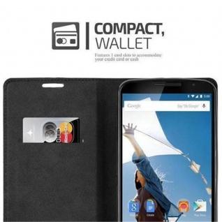 Cadorabo Hülle für Lenovo Google NEXUS 6 / 6X in CAPPUCCINO BRAUN - Handyhülle mit Magnetverschluss, Standfunktion und Kartenfach - Case Cover Schutzhülle Etui Tasche Book Klapp Style - Vorschau 2