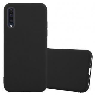 Cadorabo Hülle für Samsung Galaxy A50 in CANDY SCHWARZ - Handyhülle aus flexiblem TPU Silikon - Silikonhülle Schutzhülle Ultra Slim Soft Back Cover Case Bumper