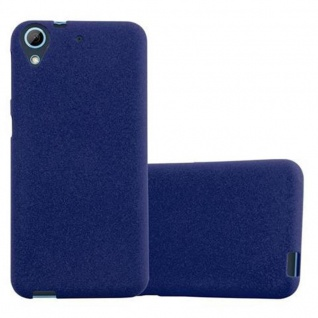 Cadorabo Hülle für HTC Desire 626G in FROST DUNKEL BLAU Handyhülle aus flexiblem TPU Silikon Silikonhülle Schutzhülle Ultra Slim Soft Back Cover Case Bumper