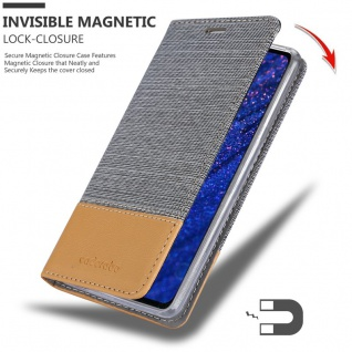 Cadorabo Hülle für Huawei MATE 20 in HELL GRAU BRAUN - Handyhülle mit Magnetverschluss, Standfunktion und Kartenfach - Case Cover Schutzhülle Etui Tasche Book Klapp Style - Vorschau 3