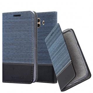 Cadorabo Hülle für Huawei MATE 10 in DUNKEL BLAU SCHWARZ - Handyhülle mit Magnetverschluss, Standfunktion und Kartenfach - Case Cover Schutzhülle Etui Tasche Book Klapp Style