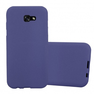 Cadorabo Hülle für Samsung Galaxy A7 2017 in FROST DUNKEL BLAU - Handyhülle aus flexiblem TPU Silikon - Silikonhülle Schutzhülle Ultra Slim Soft Back Cover Case Bumper