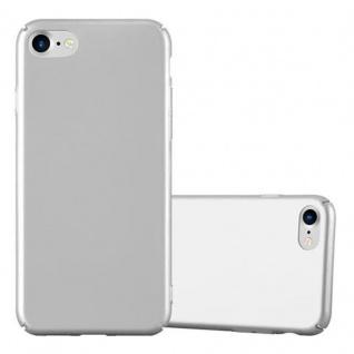 Cadorabo Hülle für Apple iPhone 7 / iPhone 7S / iPhone 8 in METALL SILBER - Hardcase Handyhülle aus Plastik gegen Kratzer und Stöße - Schutzhülle Bumper Ultra Slim Back Case Hard Cover