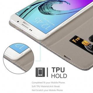 Cadorabo Hülle für Samsung Galaxy A7 2016 in GRAU SCHWARZ - Handyhülle mit Magnetverschluss, Standfunktion und Kartenfach - Case Cover Schutzhülle Etui Tasche Book Klapp Style - Vorschau 3