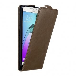 Cadorabo Hülle für Samsung Galaxy A5 2016 in KAFFEE BRAUN - Handyhülle im Flip Design mit unsichtbarem Magnetverschluss - Case Cover Schutzhülle Etui Tasche Book Klapp Style