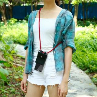 Cadorabo Handy Kette für OnePlus 5 in RUBIN ROT Silikon Necklace Umhänge Hülle mit Silber Ringen, Kordel Band Schnur und abnehmbarem Etui Schutzhülle - Vorschau 5