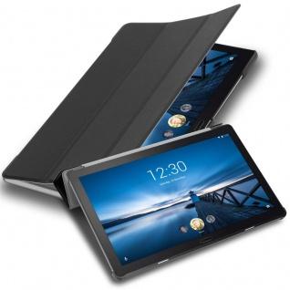 """Cadorabo Tablet Hülle für Lenovo Tab P10 (10, 1"""" Zoll) in SATIN SCHWARZ Ultra Dünne Book Style Schutzhülle mit Auto Wake Up und Standfunktion aus Kunstleder"""