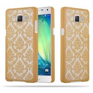 Samsung Galaxy A5 2015 Hardcase Hülle in GOLD von Cadorabo - Blumen Paisley Henna Design Schutzhülle ? Handyhülle Bumper Back Case Cover