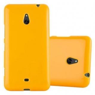 Cadorabo Hülle für Nokia Lumia 1320 in JELLY GELB - Handyhülle aus flexiblem TPU Silikon - Silikonhülle Schutzhülle Ultra Slim Soft Back Cover Case Bumper