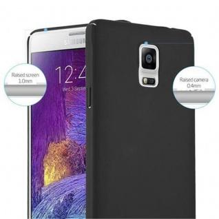 Cadorabo Hülle für Samsung Galaxy NOTE 4 in METALL SCHWARZ ? Hardcase Handyhülle aus Plastik gegen Kratzer und Stöße ? Schutzhülle Bumper Ultra Slim Back Case Hard Cover - Vorschau 4