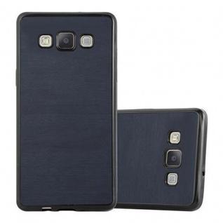 Cadorabo Hülle für Samsung Galaxy A5 2015 in WOODEN BLAU ? Handyhülle aus flexiblem TPU Silikon ? Silikonhülle Schutzhülle Ultra Slim Soft Back Cover Case Bumper