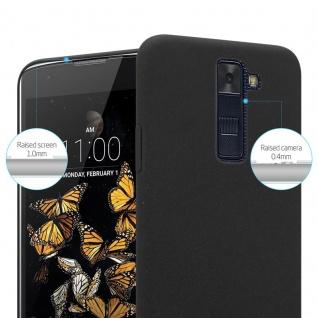 Cadorabo Hülle für LG K8 2016 in FROSTY SCHWARZ - Hardcase Handyhülle aus Plastik gegen Kratzer und Stöße - Schutzhülle Bumper Ultra Slim Back Case Hard Cover - Vorschau 3